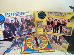 A tie-in to the popular teen series in the 1990s, this game works like a very awkward version of Twister. Not sure why the creators thought such a game might appeal to teens. Is actually kind of disturbing if you think about it.