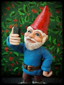 Still, being a classic gnome, I doubt if he'd be recognized on Instagram among the others. Also, I wonder where he got that smart phone.
