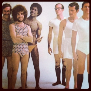 Then again, the funky undies crowd seems pretty chill. And the tidy whiteys guys really don't want anything to do with the funky undies. Either way. I'd certainly wouldn't want to associate with either team.