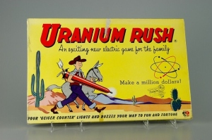 Stake your claim in the desert for uranium in Uranium Rush. And this is one of many atomic toys in the 1950s, when atomic power was all the rage. Not to mention, it was when the US was making nukes just in case the Russians were building theirs. Oh, and they made great toys even though they may never be used.