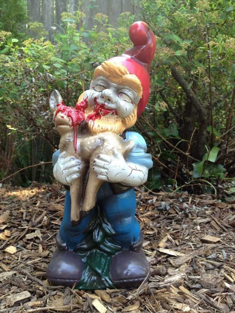 Gnome In Garden: The Lone Girl In A Crowd