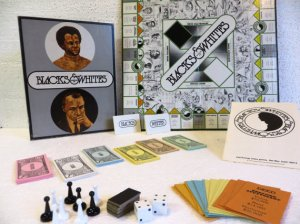 Basically this is a Monopoly type game which was supposed to spread awareness of institutionalized racism. But ends up highlighting it in the most inappropriate way possible. Was originally designed so the black players can't win, which is the point.  Let's just say illustrating the evils of racism doesn't work with board games.