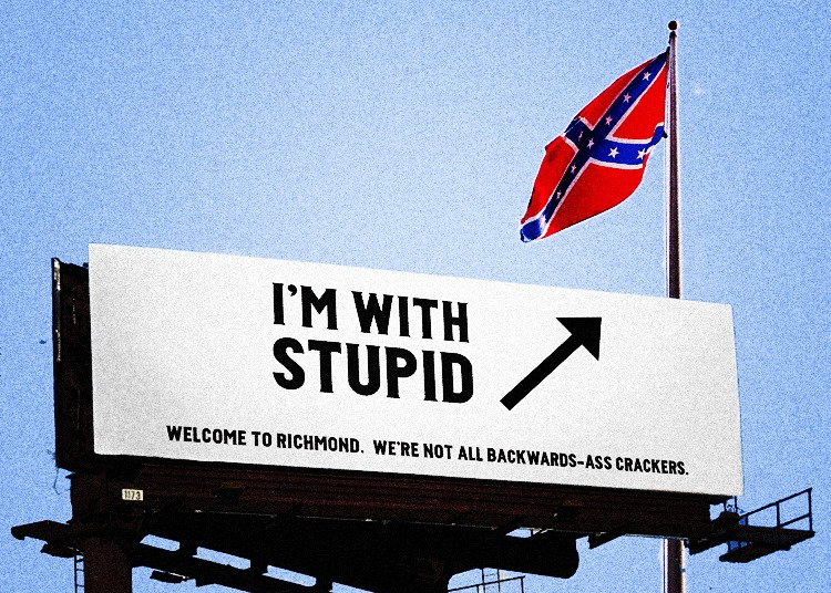 Modern display of the Confederate flag