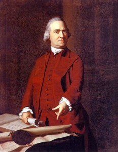 Samuel Adams was one of the most active and controversial figures in the events leading up to the Revolution. However, contrary to his portrayal in Sons of Liberty, the real Sam Adams at the time was middle age, overweight, and a somber Puritan.  Not a guy you'd want to sleep with despite what the History Channel implies.