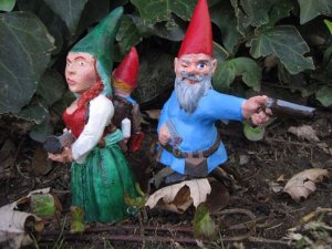 Garden Gnomes With Guns fun with garden gnomes | the lone girl in a crowd