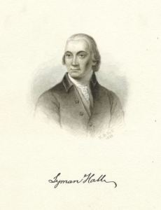 Dr. Lyman Hall was a failed minister turned physician who helped made sure that his little community in Georgia would be represented in the Continental Congress. So they had them send him.