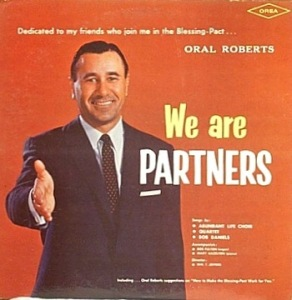 Hate to offend anyone, but Oral Roberts in this reminds me of the kind of businessman who'd swindle his company of millions before heading to the Mexican border while he sets up his partner as the fall guy. That, or some Wall Street banker who was born with the character flaw of having no conscience that he robs millions through his own Ponzi scheme. Definitely not someone I'd want to shake hands with.