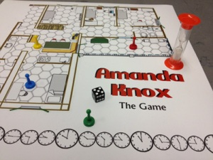 Now there are some events that should never be made into board games. And this is one of them. For God's sake Amanda Knox was a woman who spent years in Italy for a murder she didn't commit. Should we really have a game like that? Seriously, why?