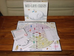In this game, players enjoy the ups and downs of having a midlife crisis. Winner can be the one who has more money, less stress, and is least likely to get divorced. Or the winner could be the one who gets divorced, goes broke, and cracks up. Really not something to give to anybody while they're having a midlife crisis.