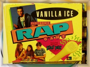 Vanilla Ice was a rather popular rapper in the 1990s even though he's hardly remembered nowadays. But he still got his own rapping board game which is incredibly dumb.