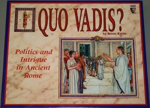 Move your politicians up to the Roman Senate through political manipulation, cutting deals, and backstabbing. Beware the Ides of March on this one as Julius Caesar failed to learn. Of course, I wouldn't recommend this to families.