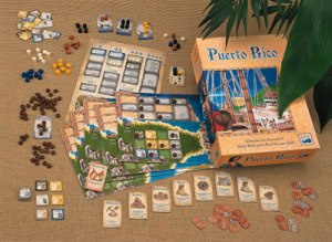 Relive the joys of colonialism with this Puerto Rico board game. Warning: Might contain slaves which worked mostly on the plantations in Caribbean and the American colonies in this period.