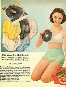 Of course, it's just a lousy single that only plays a couple of songs on it. Yet, at least your granny panties will all be different colors that will match with your pastel outfits.