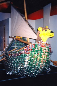 Actually, I'm just kidding about that. This is probably for a beer can regatta in Australia. But still, it kind of gives you an impression that it was used during an ancient civilization.