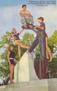 Hmm...seems like this might not be as innocent a hangout place as it's depicted. Also, I'm sure all the women are looking at the guy on top who's all too happy to imagine what it'd be like to bang all three of them.