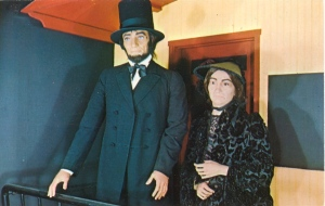 I don't know about you, but Mary Lincoln doesn't seem to look so good. In fact, she doesn't seem to look like herself at all. At least Lincoln has his beard and stovepipe hat.