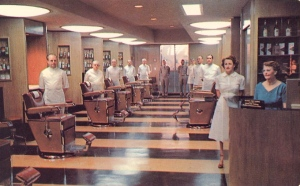 Yes, it's a hair salon. But it sort of has an atmosphere one would associate with an insane asylum. May because almost everyone is dressed in white and everything looks so clean. I think I'd rather stick with my own stylists, thank you very much.