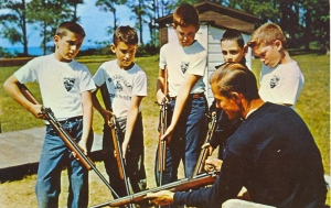 """Remember, kids, always keep your rifle ready at all times. Well, as long as you use common sense first."" Actually this is on safe marksmanship. Nevertheless, the NRA wasn't the kind of crazy gun lobby it is nowadays. Still, I do wonder if the man in this wants to raise an army of American boy soldiers though."