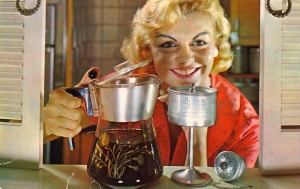 Something tells me that this coffee contains something poisonous. I don't know why. Must be the woman's soulless face and evil smile. God, she looks so terrifying like she has murder on the mind.