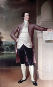 This is a 7 and a half foot portrait of William Paca who was well over 6ft tall by any stretch of the imagination. Of course, he was said to be rather refined and cultured. He also knew how to dress.