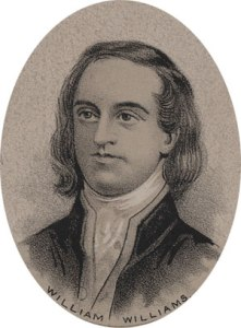 Though ordained a deacon as teenager, William Williams would soon have his divinity studies interrupted by his service in the French and Indian War. Soon decided that preaching wasn't for him and decided to be a merchant. Still, he was a rather prolific supporter in the Revolutionary War effort.