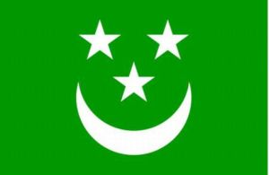 Now this consists of 3 stars making an eye and a nose along with a smiley face mouth. Might have something to do with the whimsical religion of Islam. Of course, the region it represents didn't last.