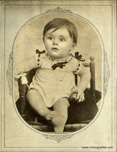 Awwww. He's such an adorable little French baby. Of course, it's hard to imagine this little guy growing up to be Ingrid Bergman's psychological abusing husband in Gaslight. He was also an inspiration for Pepe le Pew, by the way.
