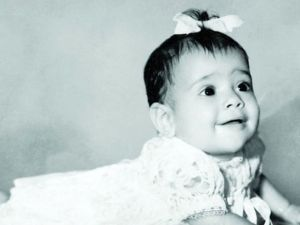Of course, even as a baby she knew she was destined to be a star. Also, I love the bow in her hair.
