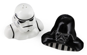 Of course, remember that your pepper will turn to the dark side. Also, when you use the salt, it won't go on your food.