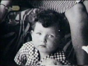 This is him while he was 3 years old and known as Robert Zimmerman. However, not sure if his dipes, they need a-changin' or not.