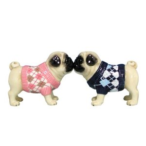 Now I think these might be just the thing for some  pug lover who doesn't have much taste in interior decorating. Also those dog sweaters are atrocious. Still, it has its own unique charm.