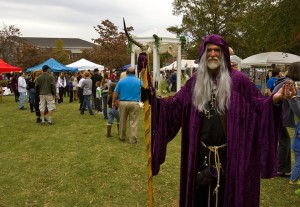 Seems like Gandalf isn't the only wizard around these parts. Of course, you get a lot of wizards there, too. Still, like his horned staff.