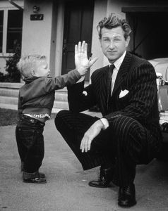 Yes, the Dude high fives, apparently. Still, this is a picture of him with his dad, Lloyd. Nevertheless, even at the age of 2, he'd make his debut as Jane Greer's baby in The Company She Keeps. Still, he's the best known actor from that family.