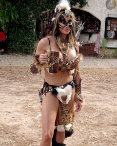 Contrary to what you see at the Renaissance Festival, Barbarian women during the Dark Ages weren't nubile savages. In fact., they dressed in warmer clothes.