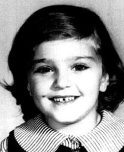 Who knew that this little doe eyed girl would become so identified with skimpy outfits in music videos? Of course, we should also remember that Madonna is her given birth name as well.