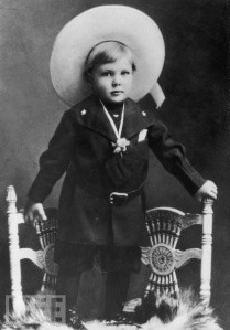 You can guess that this little tyke loved playing cowboys in his early life. Of course, it's prevalent that he also got frequently cast in westerns in his movie career.
