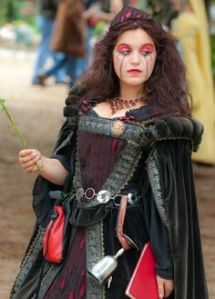 For her there's so many potential victims but so little opportunity to devour them and get away with it. Also, there's the fact that the Renaissance festival only takes place on weekends during the daytime.
