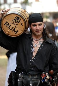 Yes, pirates love their rum. But that's probably because most British Golden Age pirates were impressed sailors who were put on a ship after having a few too many at a seaside tavern. Of course, they'll never teach you that in history class.