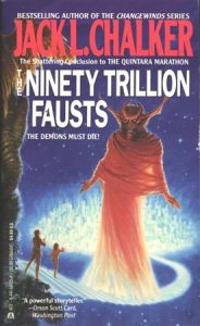 Now I know this is a sci-fi book but still. Goethe manage to write a story with just one Faust in it. Why would anyone want to write with 90 trillion is beyond me.
