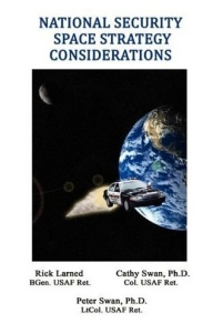 Now this is pretty bad photoshop. Not sure if having patrol cars in outer space will do the trick. But, oh well, makes a funny cover image anyway. Also makes the book hard to take seriously despite it being written by people who seem to know their stuff.
