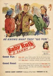 Since he started giving out Baby Ruth bars, Bobby always had the girls flock over to him ever since. Now he's become the biggest player on campus. But I really don't want to tell you what the girls give him in return.