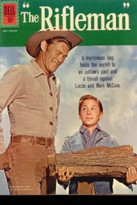 Now The Rifleman was a western TV show pertaining to a father and son in the 1950s. However, though I'm sure this book's for kids, the cover image suggests otherwise.