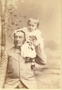 Of course, seeing the kid in dress and long hair, some of you might think this would be Eleanor. But you'd be wrong. This is FDR as a baby with his father James. Besides, Eleanor's dad Elliot was a much younger man as well as a womanizing drunk.