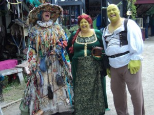 Of course, I'd rather not know what the witch did with Shrek and Fiona afterwards. Still, you get to see characters like this all the time at the Renaissance Festival.