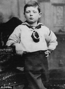 This is the future British prime minister when he was about 6 or 7 years old. But even then he seems to strike the pose of a British gentlemen. But since his dad wasn't the oldest son in a noble family, he had to strike it on his own. His parents were also kind of neglectful with his American mother being quite a slut.