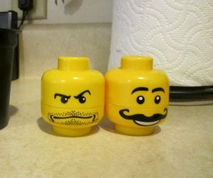 Yes, these are LEGO head salt and pepper shakers. I'm sure they shouldn't be played with. But they do look cool, though.