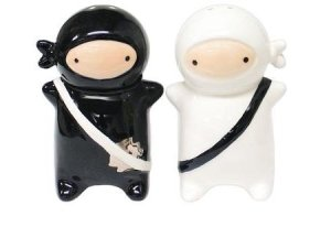 Yes, these were adorable. But real ninjas usually didn't dress this way and were usually spies. Oh, and they tended to improvise when it came to weapons.