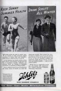 Man, out of all the ways people try to lose weight, who would've thought that drinking Schlitz beer would've made all the difference? Oh, wait a minute, beer isn't known to be a weight loss drink at all. In fact, quite the contrary. Somebody better call this ad out for false advertising.