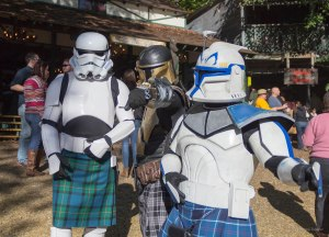 Who knew that Boba and the Stormtroopers knew how to have fun? Also, who knew that any of them were Scottish?