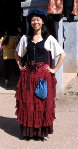 Still, unlike a real 16th century peasant, her clothes are clean and don't smell of urine. Rather they smell of tide or dry cleaner.